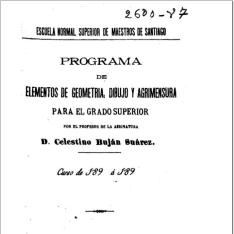 Programa de elementos de geometría, dibujo y agrimensura
