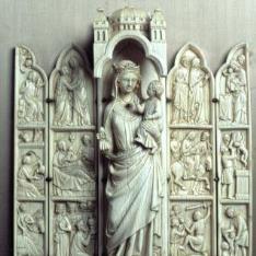 Políptico con escenas de la vida de la Virgen