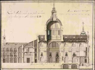 Proyecto para la iglesia del Colegio Mayor de San Ildefonso de Alcalá de Henares