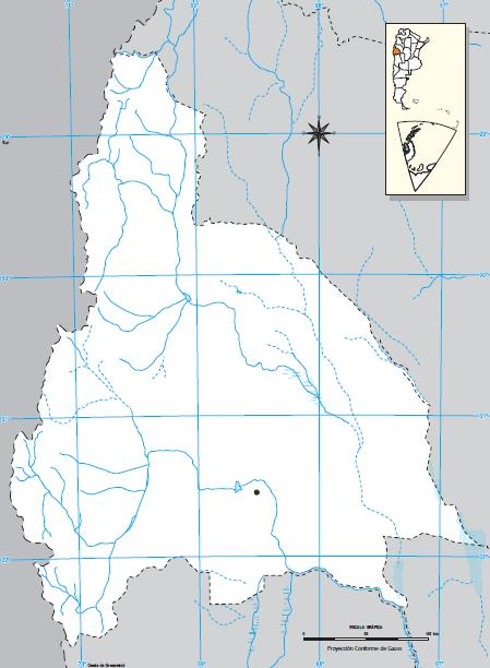 Mapa mudo de San Juan. IGN de Argentina
