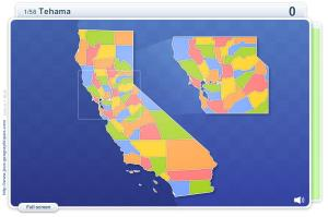 Counties of California . Geography map games