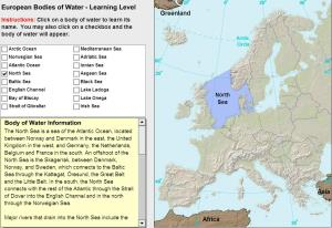 Oceans and lakes of Europe. Tutorial. Sheppard Software