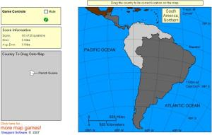 Countries of South and Central America. Advanced Beginner. Sheppard Software