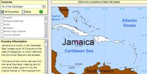 Countries of the Caribbean. Tutorial. Sheppard Software