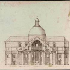 Sección transversal del cuerpo de una iglesia