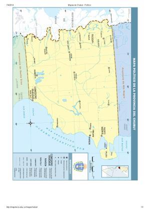 Mapa de capitales del Chubut. Mapoteca de Educ.ar