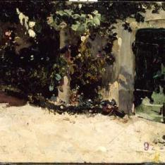 Puerta de un jardín