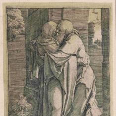 El abrazo de San Joaquín y Santa Ana ante la Puerta Dorada