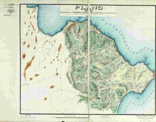 Plano del Terreno cedido por el Emperador de Marruecos a la Reyna de España