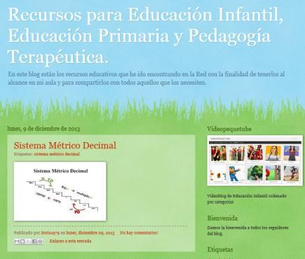 Recursos para Educación Infantil, Educación Primaria y Pedagogía Terapeútica.