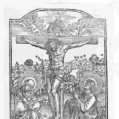 Cristo en la cruz con la Virgen y San Juan