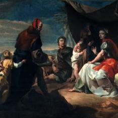 Labán busca los ídolos domésticos en la tienda de Raquel