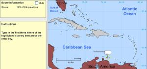 Capitals of the Caribbean. Cartographer. Sheppard Software