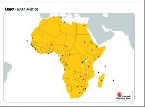 Mapa de países y capitales de África. JCyL