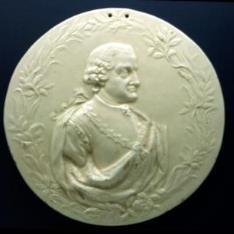 Placa con el retrato de Pedro Pablo Abarca de Bolea, conde de Aranda