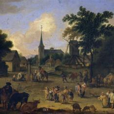 La plaza de la aldea