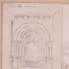 Portada de la Ermita de Santiago, Agüero, Huesca