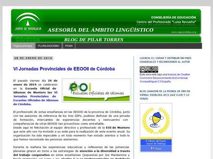 Asesoría del ámbito lingüístico. Blog de Pilar Torres