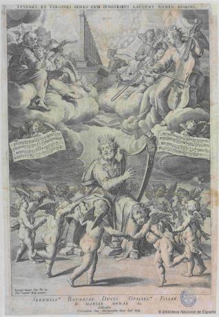 El Rey David tocando el arpa