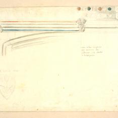 Detalle de un arcosolio, en Sahagún (¿), León