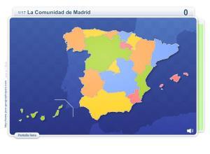 Comunidades de España. Juegos Geográficos