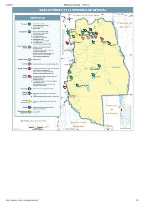 Mapa histórico de Mendoza. Mapoteca de Educ.ar
