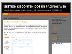 Gestión de contenidos de páginas web. Gestión Administrativa.