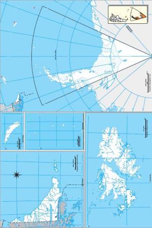 Mapa mudo de Tierra del Fuego, Antártida e Islas del Atlántico Sur. IGN de Argentina