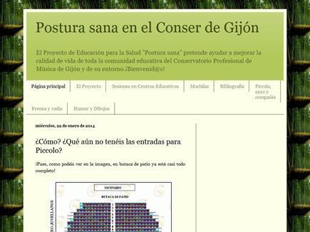Postura sana en el Conser de Gijón