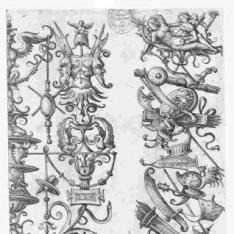 Dos paneles ornamentales con triunfos