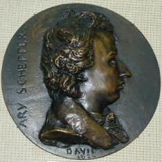 Medallón con el retrato de Ary Schifffer