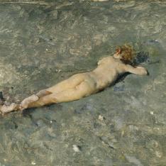 Desnudo en la playa de Portici