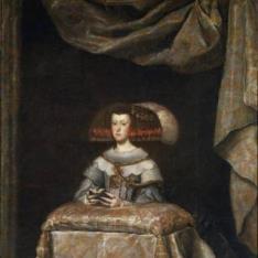 Mariana de Austria, reina de España, orante
