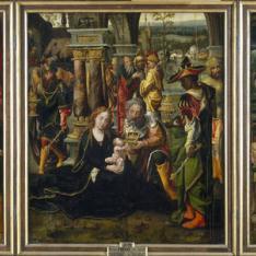 La Anunciación. La Adoración de los Reyes Magos. La Adoración de ángeles y pastores