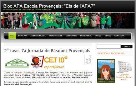 Bloc AFA Escola Provençals