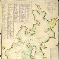 Plano de la Ría de Arousa