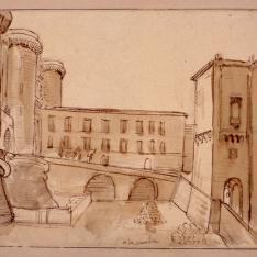 Vista del recinto interior del Castel Nuovo de Nápoles
