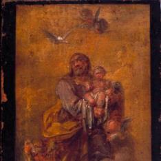 San José con el Niño en Gloria