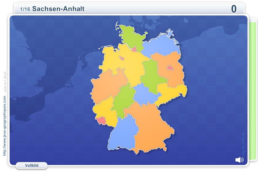 Länder Deutschlands. Geographie Spiele