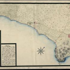 Croquis de la parte de Costa comprendida entre Hospitalet y el Rio Francoli