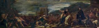 Felipe II, con sus arquitectos, inspecciona las obras de El Escorial