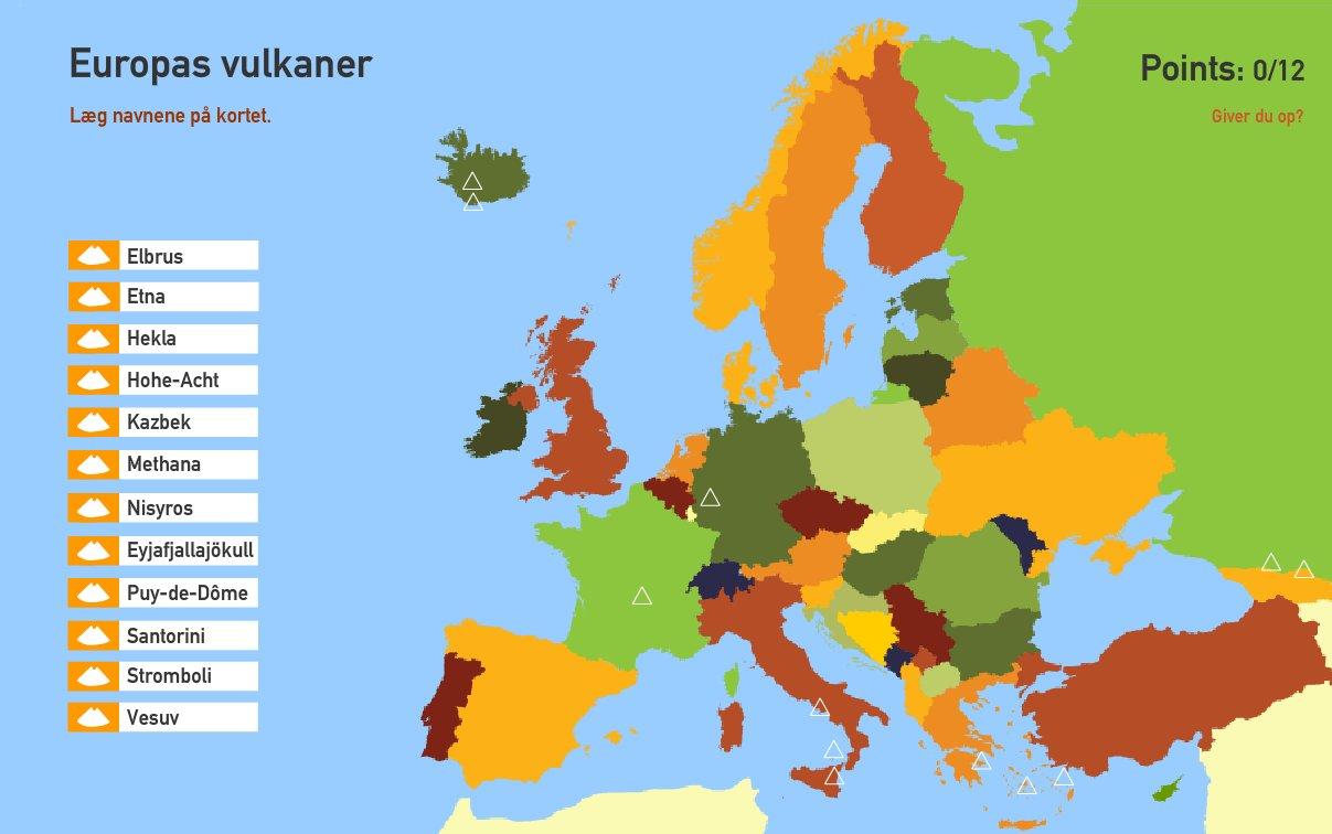 Europas vulkaner. Toporopa