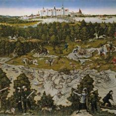 Cacería en honor de Fernando I en el castillo de Torgau