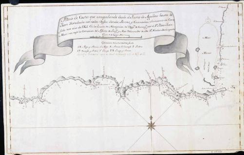 Plano de Costa que comprehende desde el Puerto de Aguilas hasta la Torre Horadada