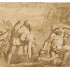 """""""Hombres, mujeres y niños huyendo del """"""""Diluvio"""""""" de la Loggia del Vaticano"""""""
