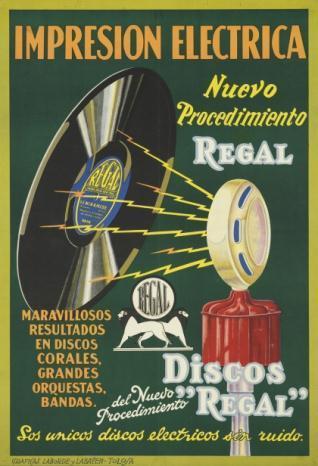 """""""Impresión eléctrica / Nuevo / Procedimiento / Regal / … / Discos / del Nuevo / Procedimiento / """"""""Regal"""""""" / …"""""""