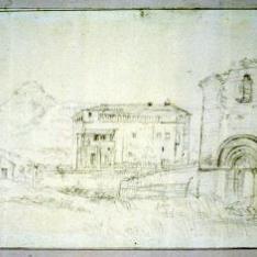 Vista de la iglesia de Anzano, Huesca