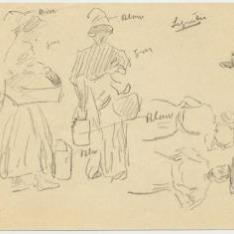 Mujeres con lecheras y cestos, Lequeitio
