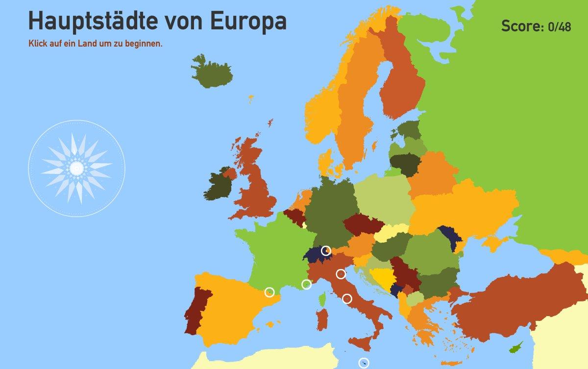 Hauptstädte von Europa. Toporopa