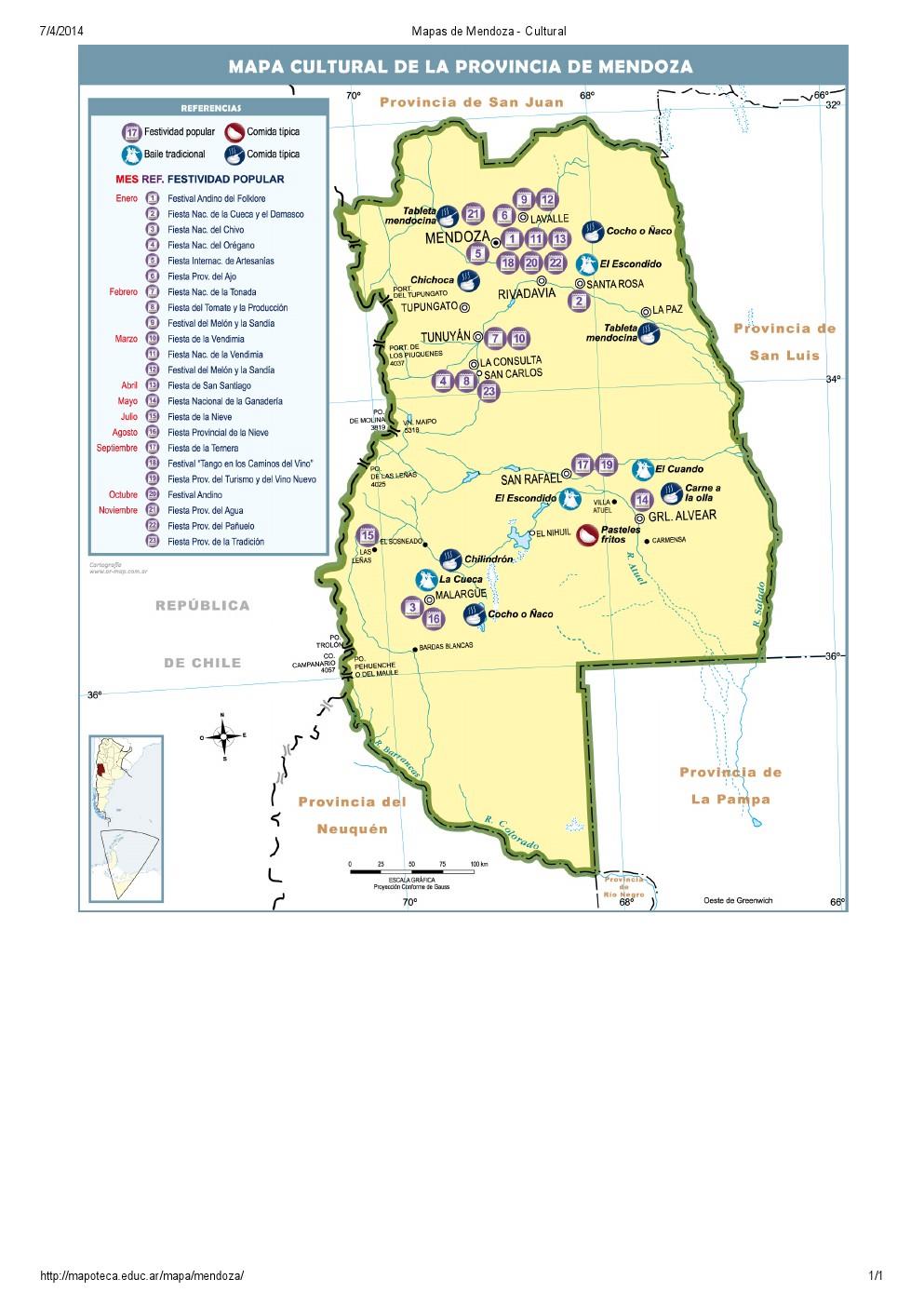 Mapa cultural de Mendoza. Mapoteca de Educ.ar